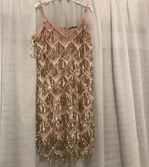 zlatna haljinica asos