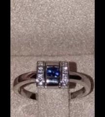 Zlatni prsten,Z.Celje,plavi safir,dijamanti