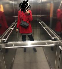 Zara crveni kaput  s remenom M-PRODANO