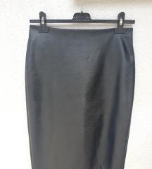 Crna kožna suknja (poštarina uključena!)