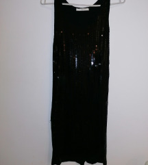 Crna uska haljina,
