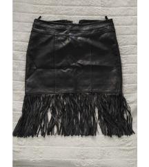 Crna suknja s resama