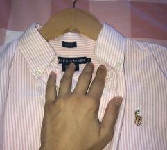 PRODANA! Polo Ralph Lauren košulja roza bijela