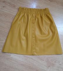 Zara žuta kožna suknja