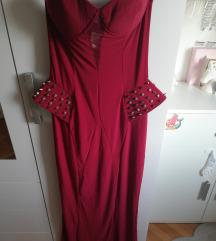 Bordo crvena haljina