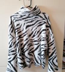 H&M zebra mekani pulover M