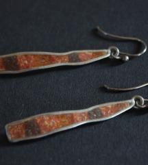 Vintage srebrne naušnice sa koraljem