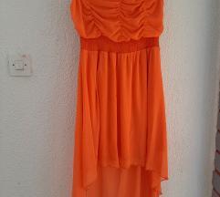Asimetricna narancasta haljina