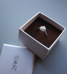 NOVO Zaks srebrni prsten s cirkonima