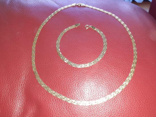 Zlatna ogrlica i narukvica 585