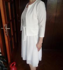 Bijeli komplet, haljina i sako-zajedno 70 kn
