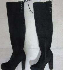 Visoke crne čizme. br 39