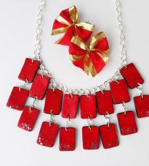 Crvena ogrlica-novo