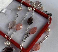 Srebro 925, kristali i biseri