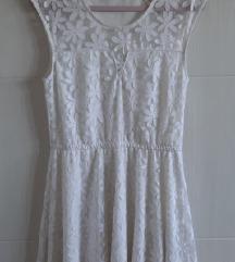%AKCIJA% Lepršava bijela haljina, A-kroj