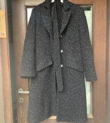 Crni spricani kaput L