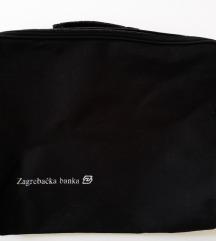 Crna poslovna torba sa ručkom ili torba za laptop