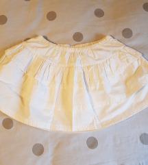 Bijela mini  lepršava suknja