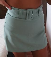 NOVE hlače suknja boje minta