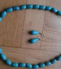 Ogrlica i naušnice od tirkiza