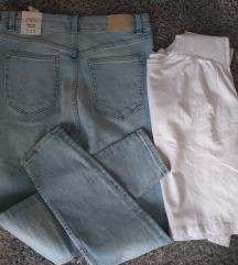 Traperice skinny br. 42 i majica vel XL Zara