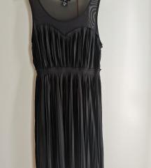 Slatka plisirana crna haljina