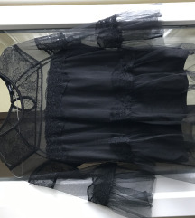 Crna reserved bluza od čipke