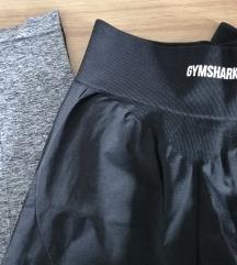 Rezz GYMSHARK push up tajice, crno-sive, nove S