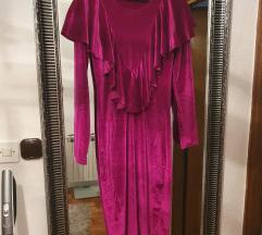 Plišana haljina fuksija