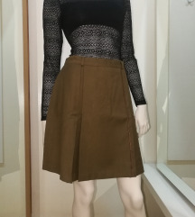Vintage, vunena, maslinasta suknja