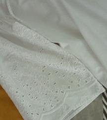 Bijela košulja s rupičastim vezom