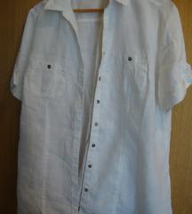 Bijela lanena košulja vel. 46