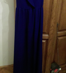 Haljina duga tamno plava