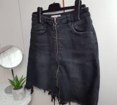 crna jeans suknja M/L
