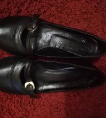 Kožne, crne, niske cipelice, 39