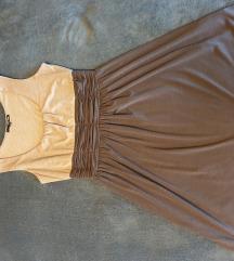 Smeđa haljina bez rukava