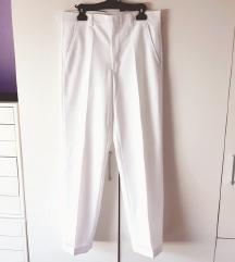 Bijele hlače na crtu  L XL