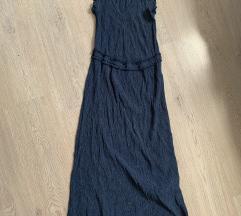 H&M midi plava haljina S