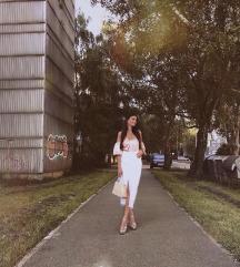 Zara midi bijela traper suknja