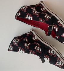Skull wedgesice/cipele