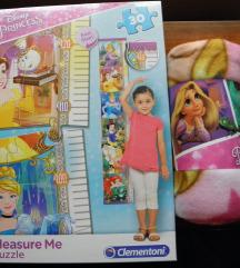 Disney princeze - puzzle + deka NOVO!