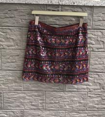 Promod suknja s šljokicama, 36