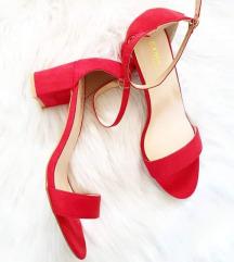 Crvene sandale na blok petu 36