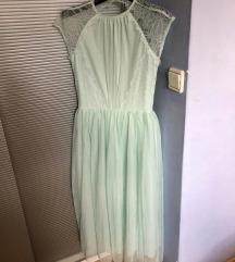 Asos mint zelena svečana princess haljina xs 34