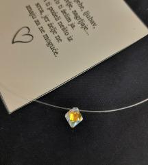 Swarovski perlica prozirna ogrlica