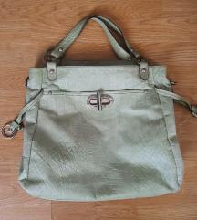 Guliver zelena kozna torba