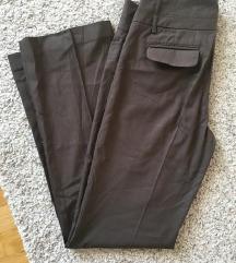 Esprit smeđe široke hlače vel 36