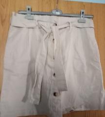 Lanena suknja s etiketom