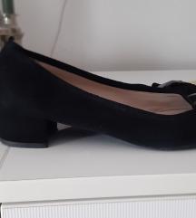 Antilop crne talijanske kožne cipele s mašnom