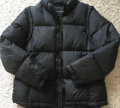 Crna pernata puffer jakna vel L
